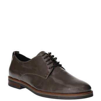 Dámske kožené poltopánky bata, hnedá, 528-2600 - 13