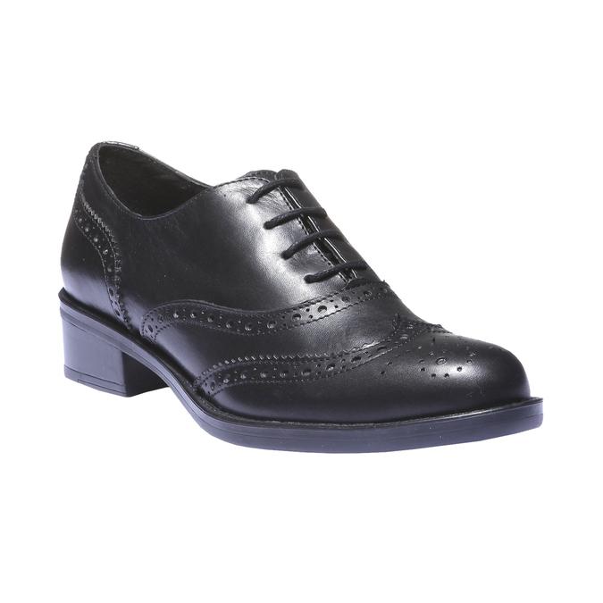 Kožené dámske poltopánky bata, čierna, 524-6185 - 13