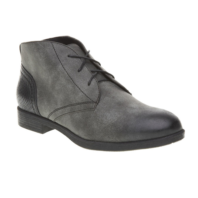 Členkové poltopánky bata, šedá, 591-6132 - 13