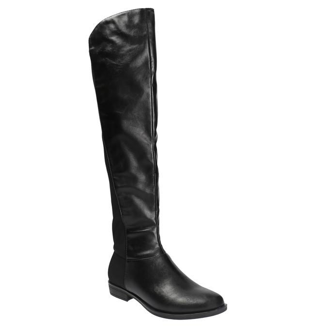 Dámské čižmy nad kolená bata, čierna, 591-6604 - 13
