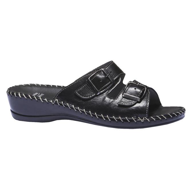 Kožené nazúvaky bata-comfit, čierna, 574-6173 - 13