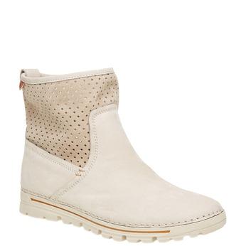 Kožené členkové topánky weinbrenner, biela, 596-1121 - 13