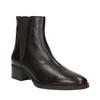 Kožené členkové topánky s pružnými bokmi bata, hnedá, 596-4623 - 13