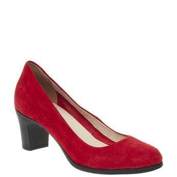 Červené kožené lodičky flexible, červená, 623-5393 - 13