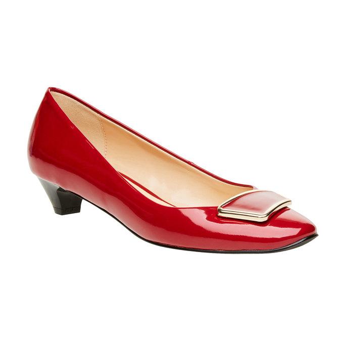 Červené lodičky na nízkom podpätku bata, červená, 621-5201 - 13