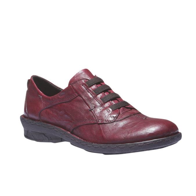 Dámska kožená obuv bata, červená, 624-5111 - 13