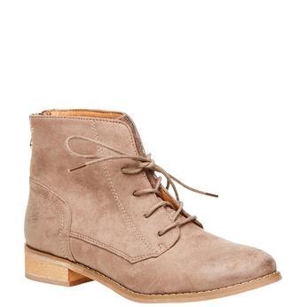 Členkové topánky so zipsom bata, béžová, 599-2493 - 13