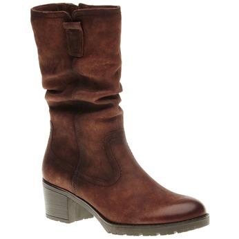 Kožené čižmy na stabilnom podpätku bata, hnedá, 696-4127 - 13