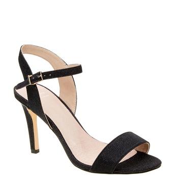 Sandále na ihličkovom podpätku bata, čierna, 761-6310 - 13