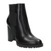 Členková obuv na podpätku s pružnými bokmi bata, čierna, 791-6604 - 13
