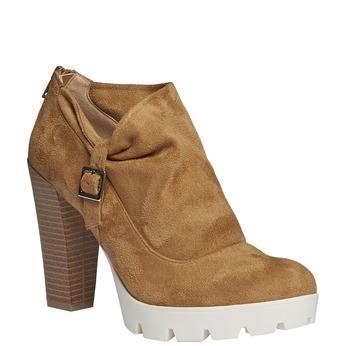 Členkové čižmy s výraznou podrážkou bata, hnedá, 799-3630 - 13