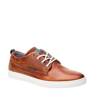 Ležérne kožené tenisky bata, hnedá, 844-3310 - 13