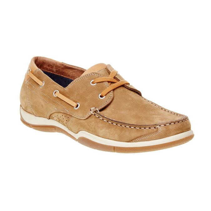 Ležérne kožené mokasíny bata, hnedá, 856-3176 - 13