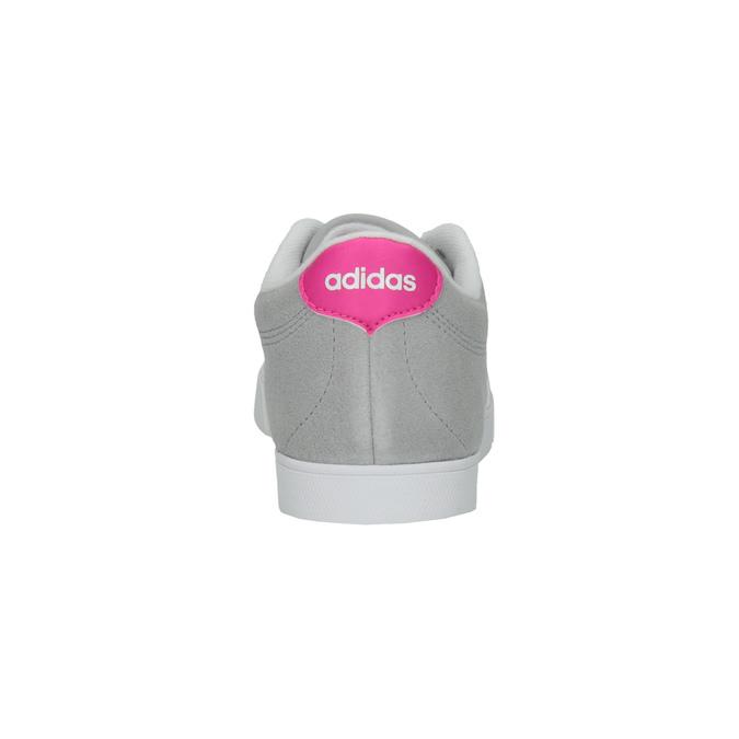 Šedé dámske tenisky z brúsenej kože adidas, šedá, 503-2201 - 17