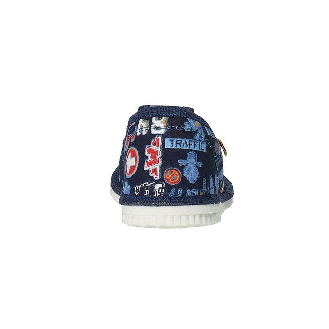 Detská domáca obuv bata, modrá, 279-9104 - 17