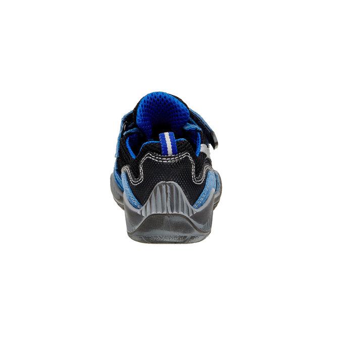 Detské kožené tenisky na suchý zips mini-b, modrá, 413-9130 - 17