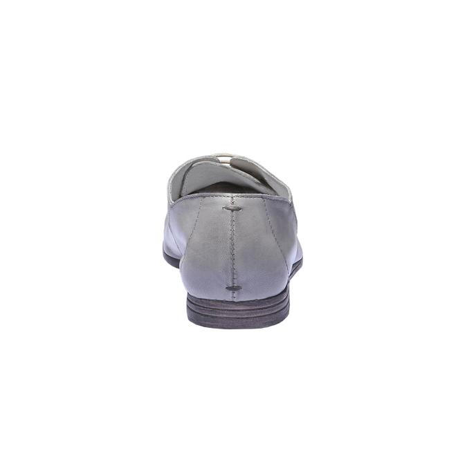 Kožené poltopánky bata, šedá, 524-2169 - 17