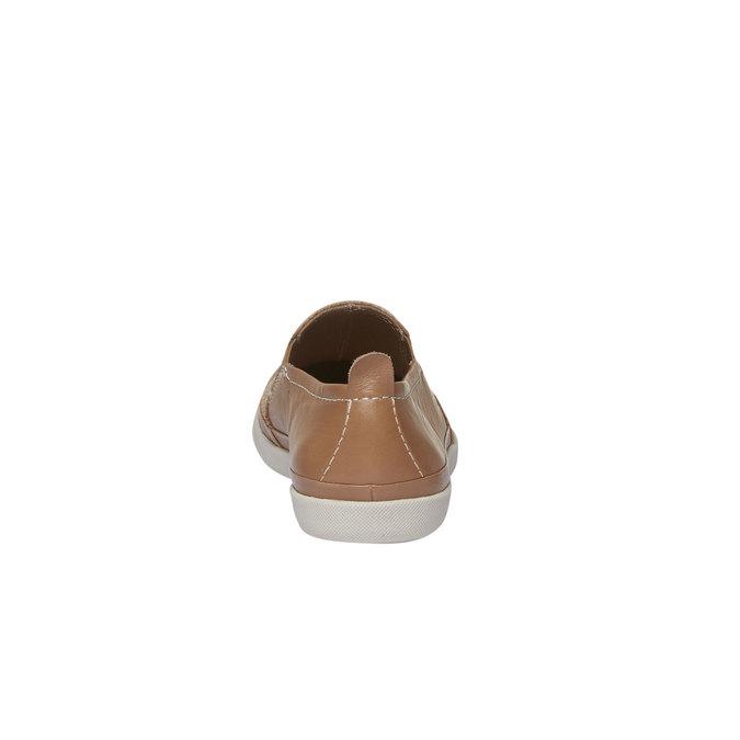 Kožené Plim Soll topánky s perforáciou bata, hnedá, 514-3197 - 17