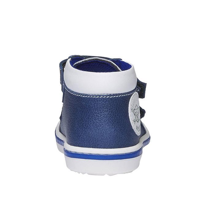 Detské kožené tenisky na suchý zips bubblegummer, modrá, 114-9147 - 17