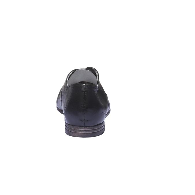 Kožené poltopánky bata, čierna, 524-6169 - 17