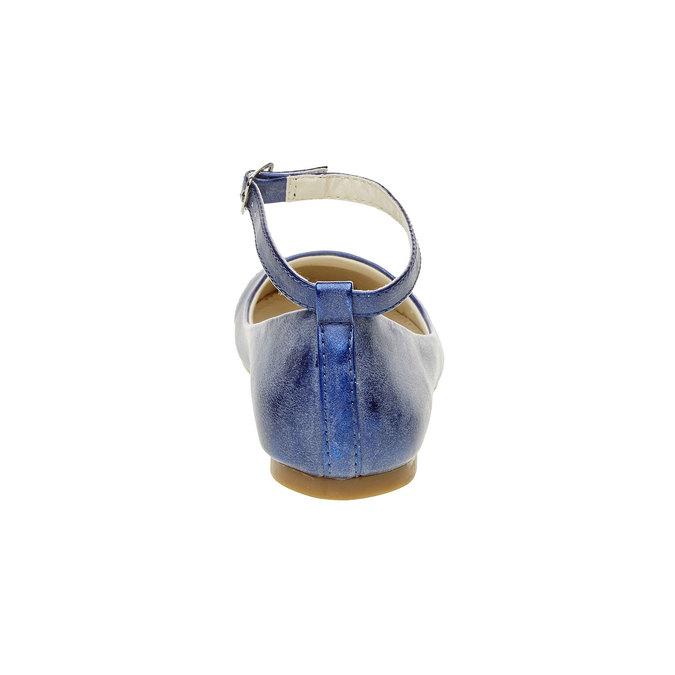 Modré balerínky s remienkom mini-b, modrá, 321-9181 - 17