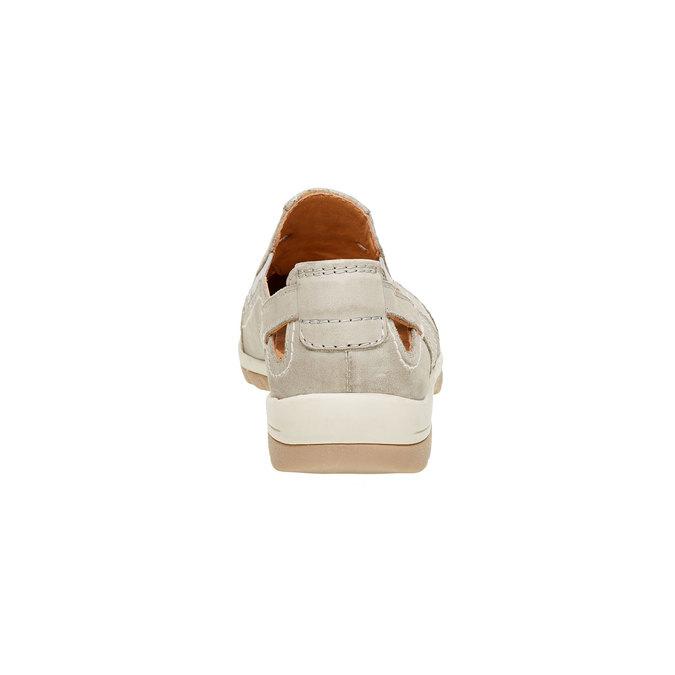 Neformálne kožené poltopánky bata, béžová, 524-3116 - 17