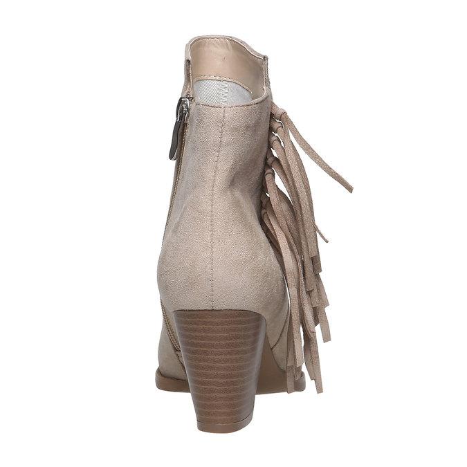 Členkové čižmy s trblietkami bata, béžová, 799-8628 - 17