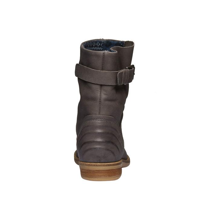 Vysoké kožené topánky bata, šedá, 596-6104 - 17