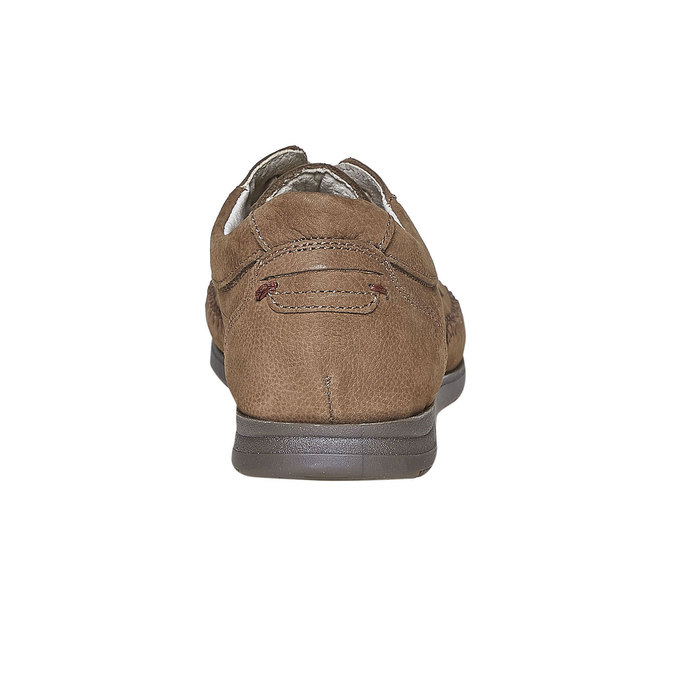 Ležérne kožené poltopánky comfit, hnedá, 856-3183 - 17