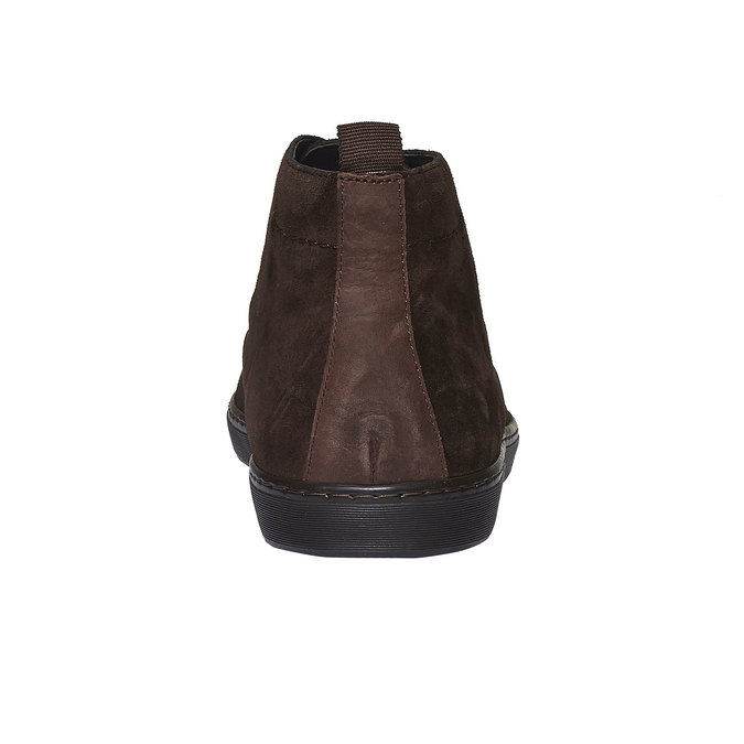 Semišové poltopánky bata, hnedá, 893-4387 - 17