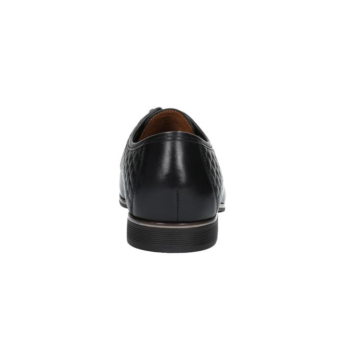 Kožené poltopánky s prešívaním conhpol, čierna, 824-6737 - 17