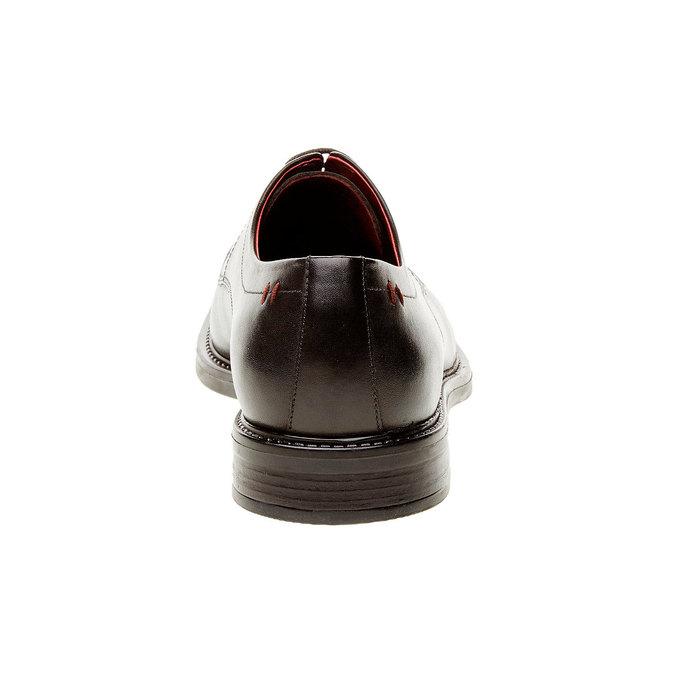 Comfort – kožené poltopánky v Brogue štýle bata-comfit, čierna, 824-6938 - 17