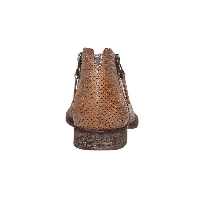 Kožené členkové čižmy bata, hnedá, 594-3400 - 17