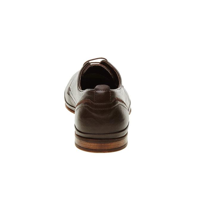 Pánske kožené poltopánky bata, hnedá, 824-4300 - 17