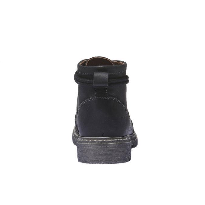 Kožená obuv s originálnymi šnúrkami weinbrenner, čierna, 594-6409 - 17