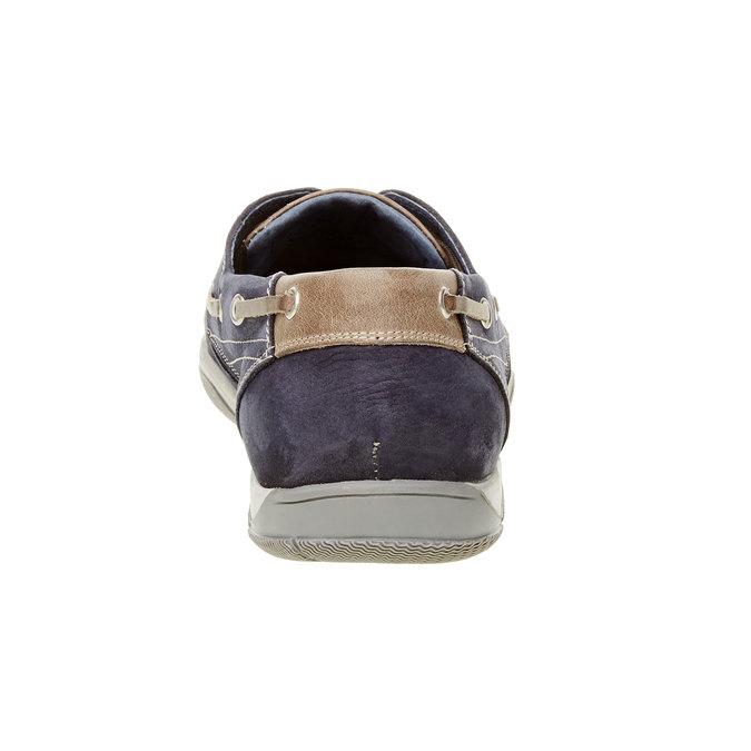 Ležérne kožené mokasíny bata, modrá, 856-9176 - 17