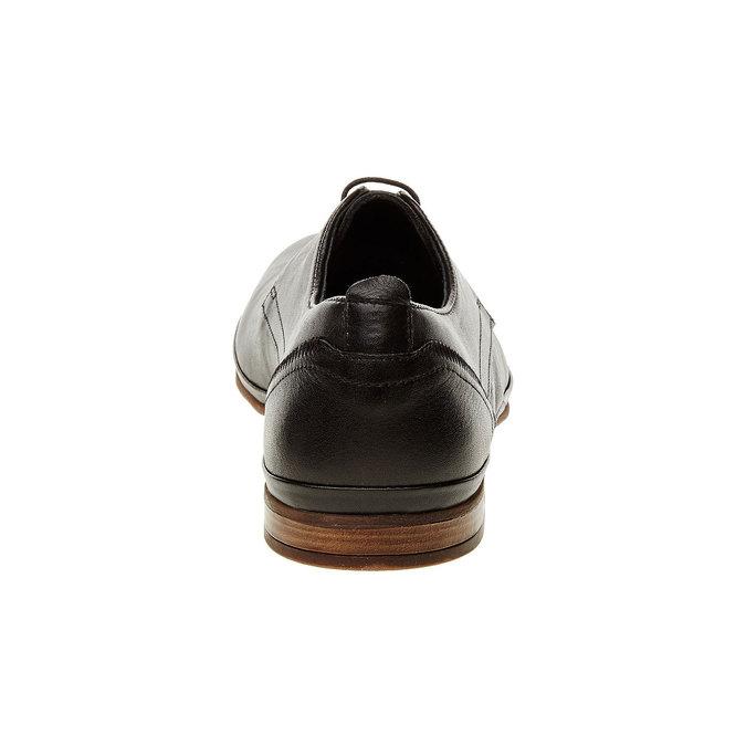 Kožené poltopánky v Derby strihu bata, čierna, 824-6300 - 17