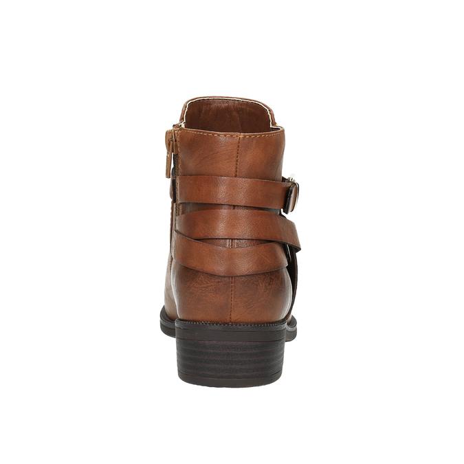 Členková obuv hnedá bata, hnedá, 591-4602 - 17