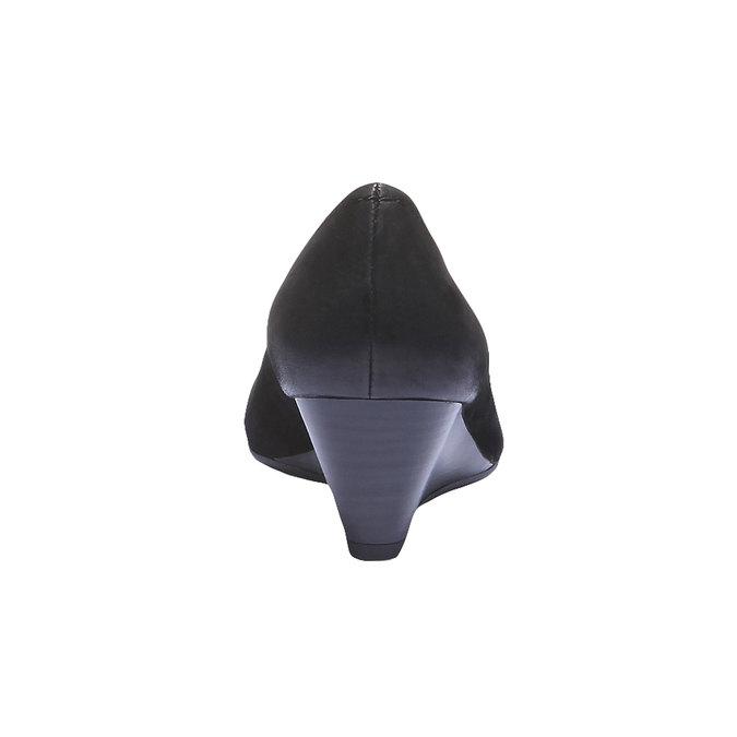 Kožené lodičky s predĺženou špičkou bata, čierna, 626-6103 - 17