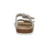 Dámske kožené papuče de-fonseca, béžová, 573-8620 - 17