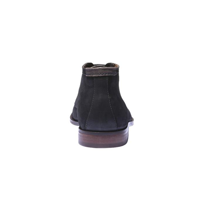 Kožená obuv v štýle chukka bata, čierna, 844-6171 - 17