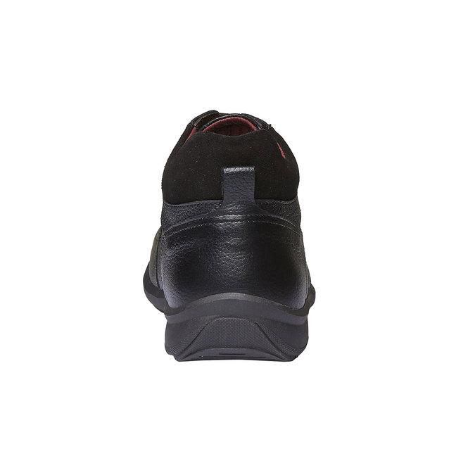 Kožené členkové poltopánky comfit, čierna, 894-6384 - 17