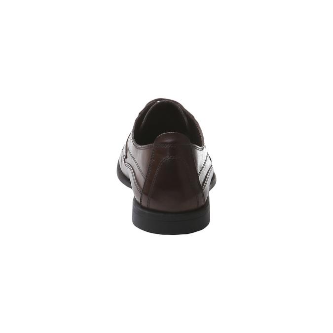 Kožená obuv na šnurovanie bata, hnedá, 854-4836 - 17