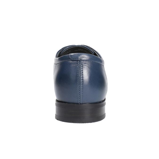 Pánske kožené poltopánky bata, modrá, 824-9669 - 17