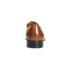 Hnedé kožené poltopánky v Derby strihu bata, hnedá, 824-3648 - 17