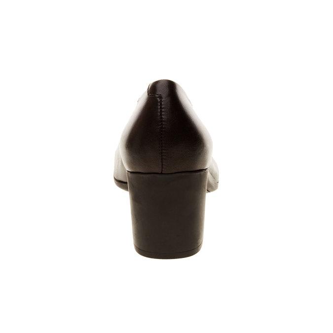 Kožené lodičky flexible, čierna, 624-6706 - 17
