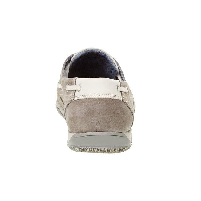 Ležérne kožené mokasíny bata, šedá, 856-2176 - 17