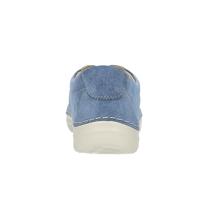 Ležérne kožené tenisky flexible, modrá, 526-9603 - 17