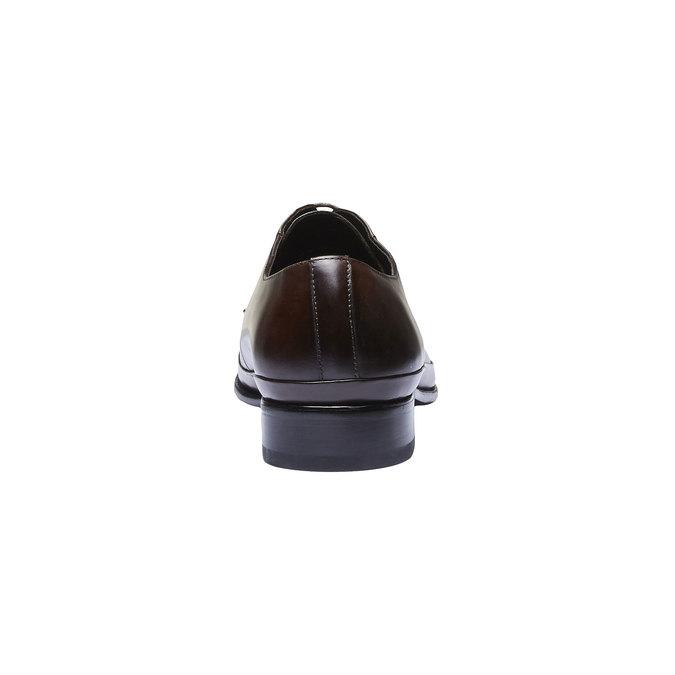 Kožené poltopánky v Derby strihu bata, hnedá, 824-4550 - 17
