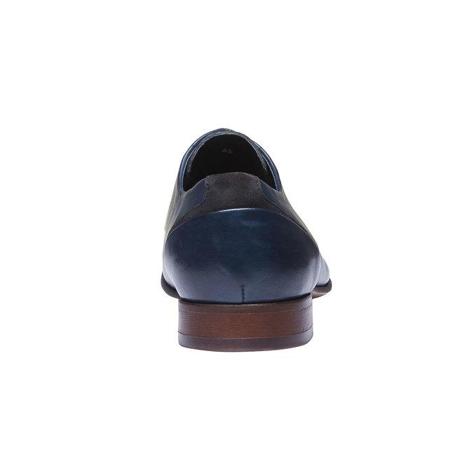 Kožené poltopánky v Derby strihu bata, modrá, 824-9538 - 17